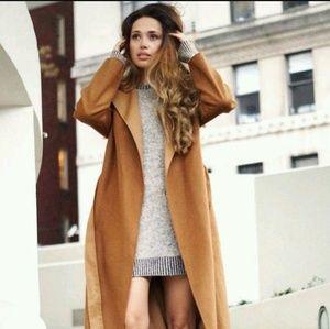 Zara Jackets & Coats - Zara Camel Wool Coat Handmade